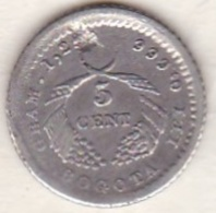 Colombia . 5 Centavos 1883 Bogota. Argent. KM# 174a - Colombia