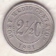 Colombia . 2 1/2 Centavos 1881. Copper-nickel. KM# 179 - Colombie