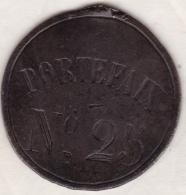 Plaque De Métier. PORTEFAIX N° 25, Ville D' ALAIS - GARD. - Professionals / Firms