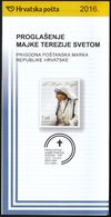 Croatia 2016 / Prospectus, Leaflet, Brochure / Proclamation Of Mother Teresa As A Saint - Croatie