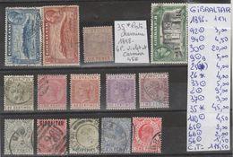 TIMBRES LOT OBLITEREES NEUF DE GIBRALTAR  Nr VOIR SUR PAPIER AVEC TIMBRES COTE      220.85€ - Gibraltar