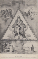 Religion - La Trinité - Triangle Père Fils Saint-Esprit - Editions Bonne Presse 5 Rue Bayard Paris - Paintings, Stained Glasses & Statues