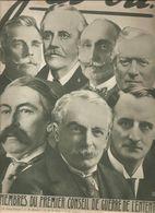 Militaria Revue J'ai Vu.... N°?? Du 27 NOVEMBRE 1915 Les Membres Du Premier Conseil De L'entente - Bücher