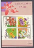 Macau 1991- Flowers And Gardens  #  MNH #  Côte € 60.00 - Blocs-feuillets