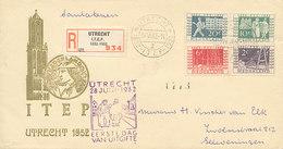 DC-0783 - 1952 NETHERLANDS FDC HERDENKINGSZEGELS ITEP - CRÈMEKLEURIG COVER - BESCHR. O/K - AANTEKENSTROOKJE - FDC