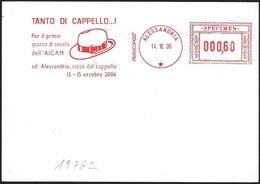 Italia/Italy/Italie: EMA, Meter, Specimen, Cappello, Hat, Chapeau - Tessili