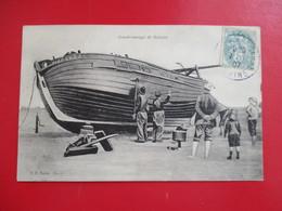 CPA GOUDRONNAGE DE BATEAU - Pêche