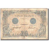 France, 20 F 1905-1913 ''Bleu'', 1912, 1912-11-18, KM:70, TB - 1871-1952 Antichi Franchi Circolanti Nel XX Secolo