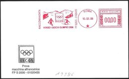 Italia/Italy/Italie: Ema, Meter, Specimen,  Verso I Giochi Olimpici 2006, Towards The 2006 Olympic Games, Vers Les Jeux - Winter 2006: Turin