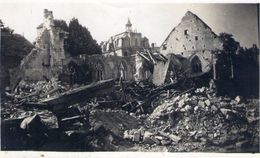 Photo 9 X 6 Cm Caen 14 Calvados Ruine Eglise St Julien Bombardement Guerre 1944 - Caen
