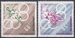 Dahomey Benin 1964 Sport Spiele Olympia Olympics Tokio Leichtathletik Athletics Laufen Radfahren Bicycle, Mi. 239-0 ** - Benin – Dahomey (1960-...)