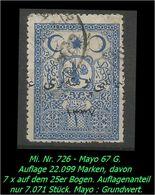 TURKEY , EARLY OTTOMAN SPECIALIZED FOR SPECIALIST, SEE...Mi. Nr. 726 - Mayo 67 G - 1920-21 Anatolie