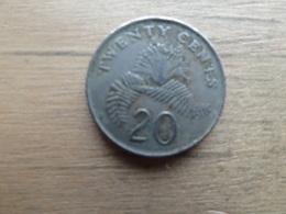 Singapour  20  Cents  1987  Km  52 - Singapour