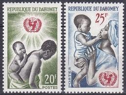 Dahomey Benin 1964 Organisationen Kinderhilfswerk UNICEF UNO Kinder Children, Mi. 242-3 ** - Benin – Dahomey (1960-...)