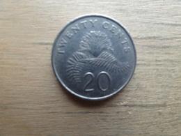 Singapour  20  Cents  1989  Km  52 - Singapour