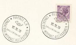 1970 Firenze ALLERGOLOGY CONGRESS EVENT COVER Card ITALY Stamps Allergy Medicine Health - Medicine