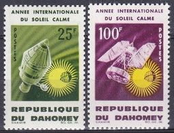 Dahomey Benin 1964 Weltraum Weltall Sonne Sun Apollo Wettersatellit Satelliten Wetter Meteorologie, Mi. 244-5 ** - Benin – Dahomey (1960-...)