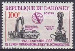 Dahomey Benin 1965 Kommunikation Communication Technik Organisationen Fernmeldeunion IUT ITU UNO, Mi. 251 ** - Benin – Dahomey (1960-...)