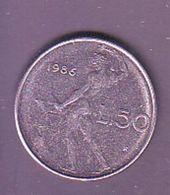 ITALIA 1986  50 Lire - 1946-… : Republic