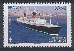 """France/ 2015 / N° 4964  Paquebot """"Le France"""" - France"""