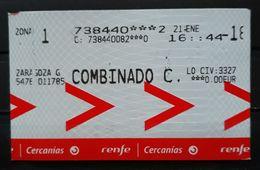 RENFE ESPAÑA. BILLETE DE CERCANÍAS. - Trenes