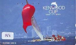 Télécarte HAWAII Sur JAPON - HAWAII Related (188)   Telefonkarte Phonecard Japan -  KENWOOD CUP - Paysages
