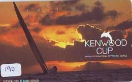 Télécarte HAWAII Sur JAPON - HAWAII Related (190)   Telefonkarte Phonecard Japan -  KENWOOD CUP - Paysages