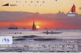 Télécarte HAWAII Sur JAPON - HAWAII Related (193)   Telefonkarte Phonecard Japan - - Paysages