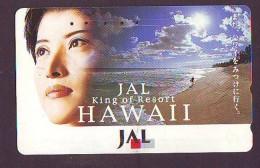 Télécarte HAWAII Sur JAPON - HAWAII Related (197)   Telefonkarte Phonecard Japan -  JAL King Of Resort - Paisajes