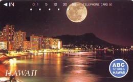 Télécarte HAWAII Sur JAPON - HAWAII Related (202)   Telefonkarte Phonecard Japan - - Paysages