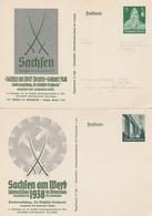 2 ENTIERS De SACHFEN /EXPO. TIMBRES De SAXE - Germany