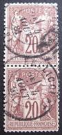 Lot FD/391 - SAGE Type I (PAIRE) N°67 - CàD : BELLICOURT (Aisne) 4 AOÛT 1881 - Cote : 45,00 € - 1876-1878 Sage (Type I)
