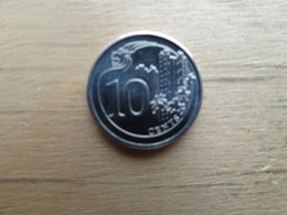 Singapour   10  Cents  2016  Km !!! - Singapore