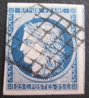 Lot FD/392 - CERES N°4 - GRILLE NOIRE - Cote : 65,00 € - 1849-1850 Ceres