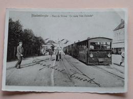 """Foto Van PK / CP Met Tram Blankenberghe - Gare Du VICINAL """" En Route Vers Ostende """" ( 8,5 X 12,5 Cm./ Zie Foto's ) ! - Lieux"""