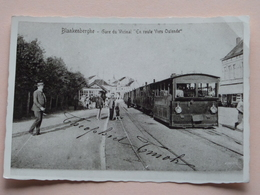 "Foto Van PK / CP Met Tram Blankenberghe - Gare Du VICINAL "" En Route Vers Ostende "" ( 8,5 X 12,5 Cm./ Zie Foto's ) ! - Plaatsen"