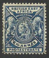 British East Africa, 2 1/2 A. 1896, Sc # 76, Used - Africa Orientale Britannica