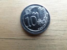 Singapour   10  Cents  2014  Km !!! - Singapour