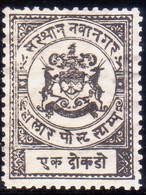 INDIA NAWANAGAR 1893 SG #13 1doc MNG As Issued Thin Wove Paper - Nowanuggur