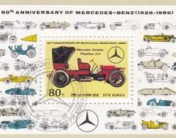 COREE DU NORD - DPK KOREA - 1986 BLOC MERCEDES-BENZ - PHAETHON 1904 /5 - Cars