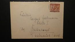 Germany - Berlin - 1954 - Mi:DE-BE 125, Sn:DE 9N112, Yt:DE-BE 110 - On Envelope - Look Scan - Lettres & Documents