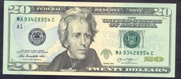 USA 20 Dollars 2013 A UNC # P- 541 A - Boston MA - Federal Reserve Notes (1928-...)
