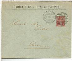 SUIZA ENTERO POSTAL 1908 PERRET & CIE RELOJERIA RELOJ CLOCK - Relojería