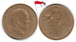 Monaco - 20 Centimes 1962 (High Grade) - Mónaco