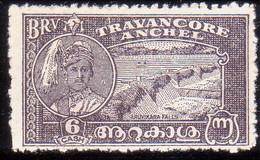 INDIA TRAVANCORE 1941 SG #71b 6ca MNG Perf.12 CV £35 - Travancore
