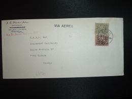 LETTRE Pour La FRANCE TP 2,50 Esc + TP 1 Esc OBL.10 3 71 COIMBRA + Griffe Lineaire VIA AEREA - 1910-... République