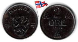 Norvège - 2 Øre 1944 - Norvège