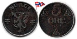 Norvège - 5 Øre 1942 - Norvège