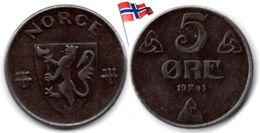 Norvège - 5 Øre 1943 - Norvège