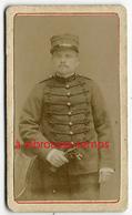 Format Mignonnette CDV 3,5 X 6cm-portrait D'un Soldat De Marine-photo Anonyme - Photos